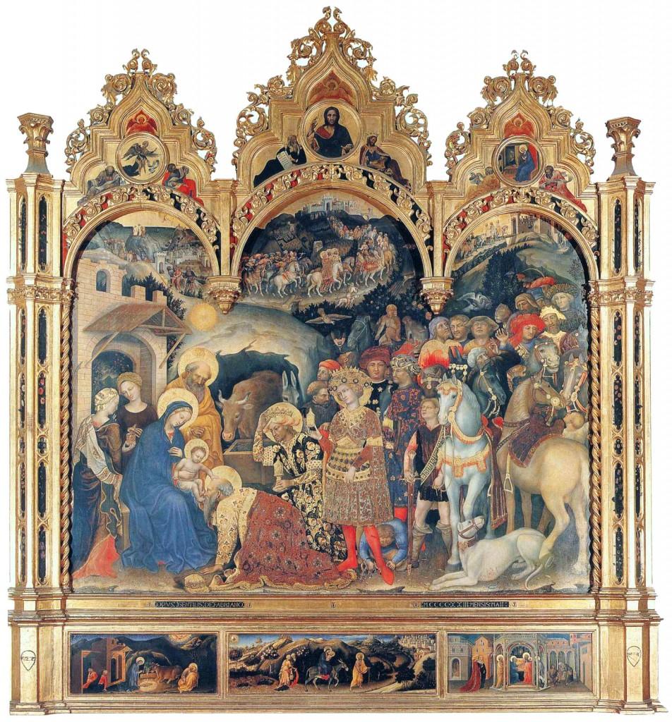 Gentile da Fabriano, Adoração dos Magos (Galleria degli Uffizi, Florença)