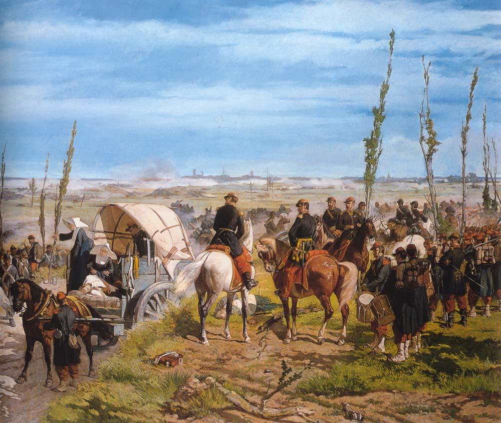 Acampamento italiano na Batalha de Magenta, Giovanni Fattori. Fotos de yak23flora