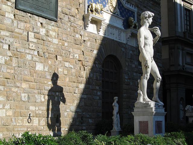 Palazzo Vecchio e David. Foto de jessica@flickr