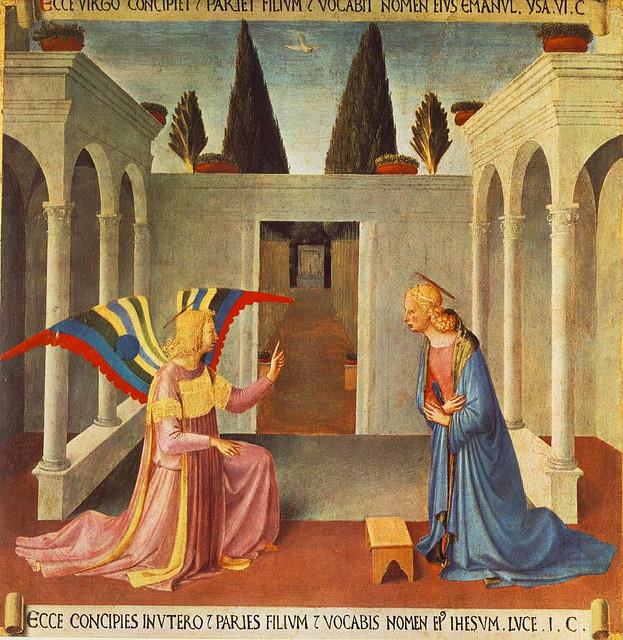 Anunciação de Fra Angelico. Foto de carulmare