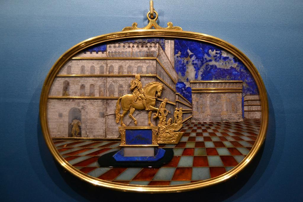 Artefato no Museu da Prata de Florença. Foto de J. Kunst