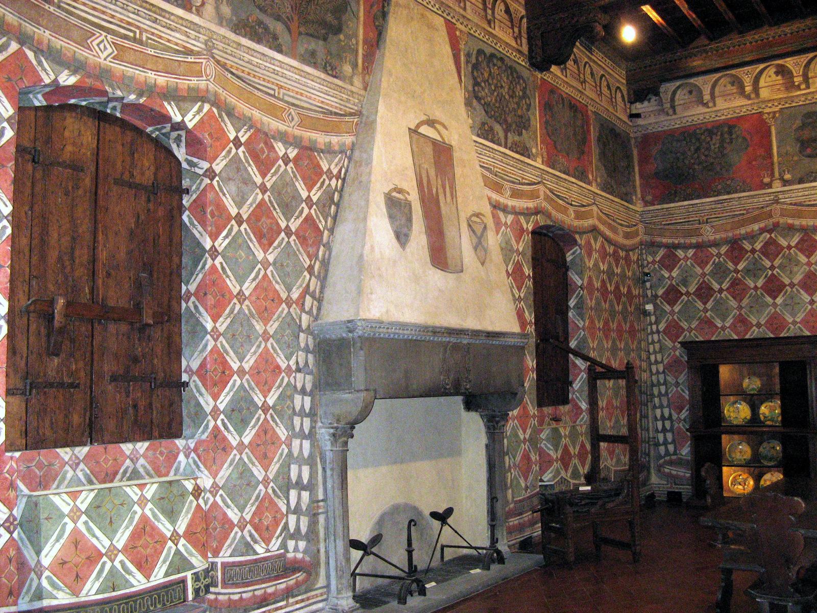 Uma sala do Palazzo Davanzati