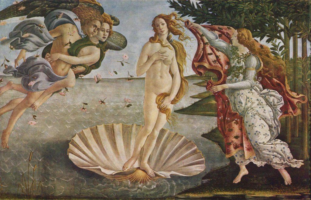 Boticelli, O Nascimento do Vénus (Galleria degli Uffizi, Florença)